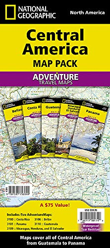 Central America, Map Pack Bundle: Travel Maps International Adventure/Destination Map (National Geographic Adventure Map) [Idioma Inglés]
