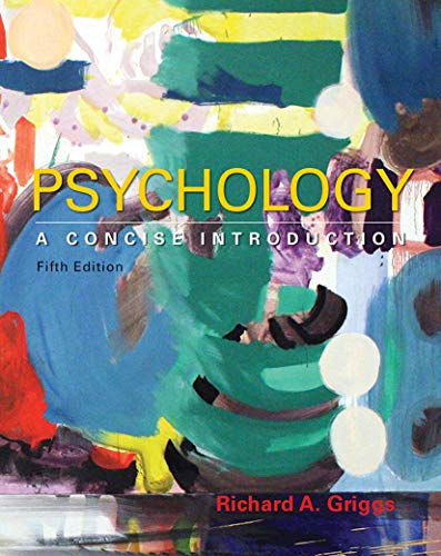 Compare Textbook Prices for Psychology: A Concise Introduction Fifth Edition ISBN 9781464192166 by Griggs, Richard A.
