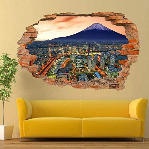 Mount Fuji Volcano Wall Stickers 3D Art Mural Poster Decal Room Decoration/Vinyl Art Mural
