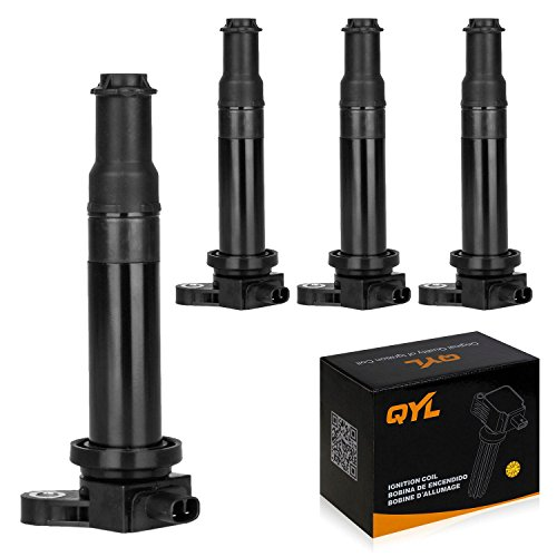 QYL Pack of 4Pcs Ignition Coil Compatible with Dodge Attitude Accent Kia Rio Rio5 UF499 27301-26640 C1543