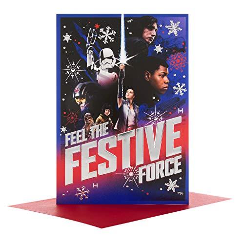 Hallmark 25492727 Star Wars Weihnachtskarte