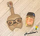Sloth Sanitizer Holder Key Fob