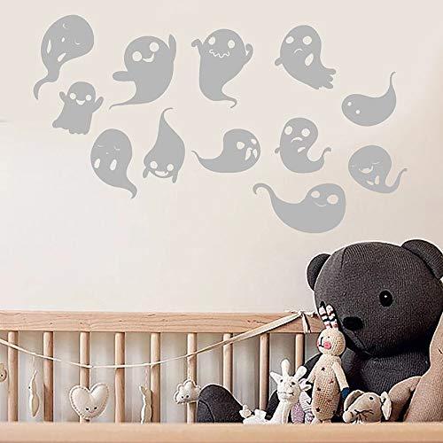 Tianpengyuanshuai Muurstickers cartoon spook kostuum vinyl sticker slaapkamer woonkamer leuke decoratie