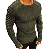 qulvyushangmaobu Homme Manches Longues Pull en Sweat Sweat-Shirt Homme Pulls T-Shirt Roulé Manches Longues Sweat-Shirts Hiver Sweatshirt Slim Fit Sweater Top