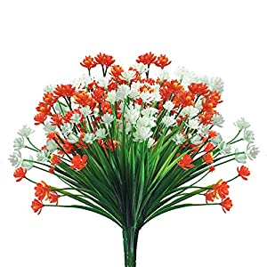 AY 24 Bundles Artificial Flowers Outdoor Decoration, UV Resistant Plastic Fake Flower Outdoor Greenery Plant, for Hanging-Planters-Window Boxes-Wedding-Home-Garden-Cemetery Décor (Mixed Suit)