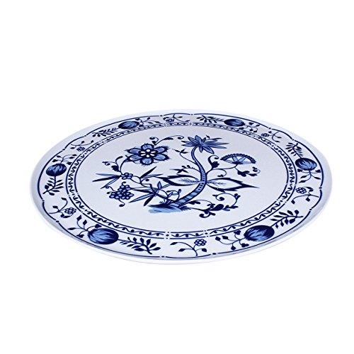 Eschenbach Porcelaine Group Romantika Plateau à gâteau 33 cm Porcelaine, Motif Oignon, 1 x 1 x 1 cm