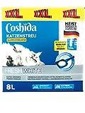 Coshida 2X Katzenstreu Fresh White 2x8 Liter XXL (16Liter)
