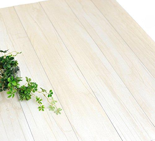 ハリーイージーデコタイル フロアタイル シール式 木目 ウッド 置くだけ フローリング 床材 42枚入(約6.3平米) ホワイト ウッド