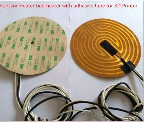 Best Quality - Tool Parts - v/24v 160/180/190/220/240/260/300/500mm Diameter Round polyimide Heater Bed Heater with Adhesive Tape for 3D Printer - by Rocco - 1 PCs