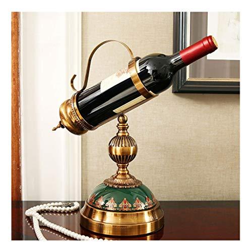 Botellero Vino Estante del vino de cerámica decoraciones estantes de cobre plateado estante del vino regalos Inicio decoraciones interiores Decoración de vino Estantería Vino ( Color : B )