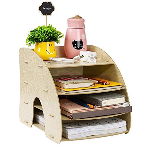 Afinder Stehsammler Zeitschriftensammler Schreibtisch Organizer Schreibtischorganizer Holz Manager Tisch Organizer Büro Dokumente Zeitschriftensammler Office Zubehör Ordnungsbox 6 Fächer