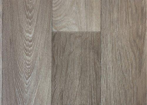 PVC-Boden Paneele in Schiffsboden-Optik mit Schaumrücken | Vinylboden 2m Breite & 2,5m Länge | Fußbodenheizung geeignet | PVC Platten strapazierfähig & pflegeleicht er Fußboden-Belag