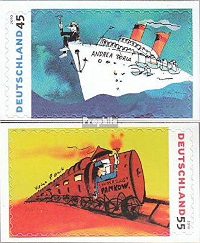 Prophila Collection BRD (BR.Deutschland) 2807-2808 (kompl.Ausg.) Selbstklebende Ausgabe 2010 Gemälde von UDO Lindenberg (Briefmarken für Sammler) Eisenbahn