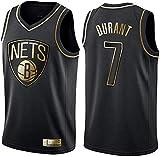 WSUN Camiseta De Baloncesto De La NBA - Brooklyn Nets 7# Kevin Durant Camiseta De La NBA para Hombre - Camiseta Deportiva De Baloncesto Sin Mangas Transpirable De Ocio,A,S(165~170CM/50~65KG)