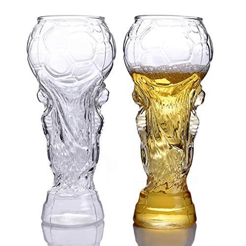 QLTY 2 Piezas de Jarra de Cerveza de Vidrio Creativa de 450 ml,Vasos de Cerveza Personalizada de Barra,Vaso de Jugo,Vaso de cóctel,Vaso de Vidrio
