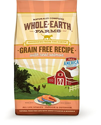 Whole Earth Farms Grain Free Recipe Dry Cat Food, Salmon, 10 Lb.