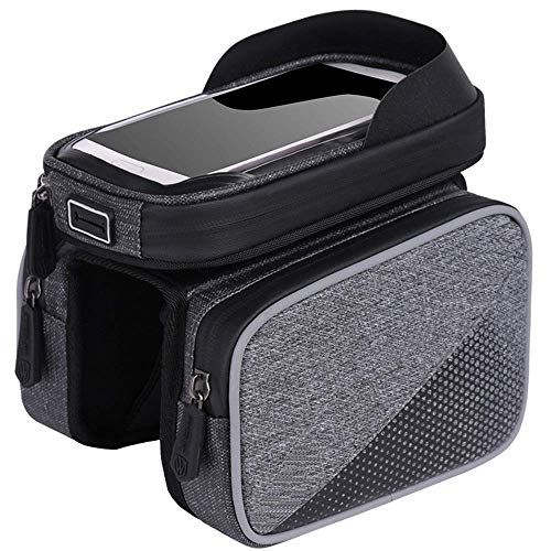 La bolsa de bicicletas bicicleta impermeable del coche delante de montaña bolsa de contacto moto delante de la pantalla bolsa de haz tubular superior for montar a 6,0' bolsa de teléfono móvil multifun