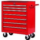 Masko® Werkstattwagen - 7 Schubladen, rot ✓