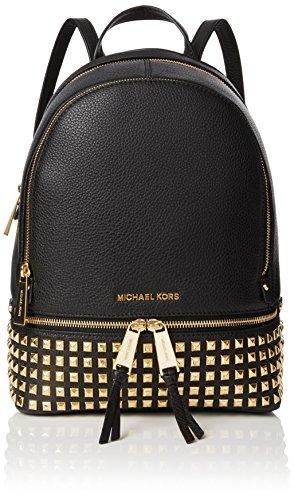 Michael Kors Rhea Zip, Bolso mochila para Mujer, Negro (Black), 13x30x26 centimeters (W x H x L) (Zapatos)