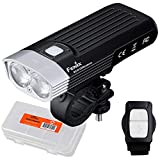 Fenix BC30 v2 2200 Lumen Dual Beam Bicycle Light with Wireless Remote and LumenTac Battery Case (Batteries Not Included)