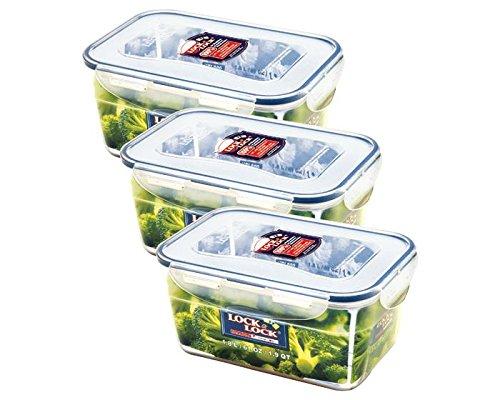 ZIP Premium Frischhaltedose | Vorratsdose | Gefrierdose | Frischhaltebox | 1,8 Liter | Lock&Lock HPL322-3er Set