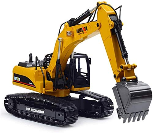 Muchacho y Control Remoto Adulto Excavadora Profesional Modelo 1:14 2 4g Alojamiento Completo 23CH Die-Metal Metal Off Road RC Camión de Excavadora hidráulica con función de Humo Incomparable