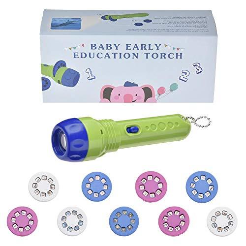Frühe pädagogische Spielzeug Handed Lernmaschine Kinder Taschenlampe Storybook Fackel HD Animation Cartoon Baby Taschenlampe mit Knopf Batterien Toys Thema Bilder Bedtime