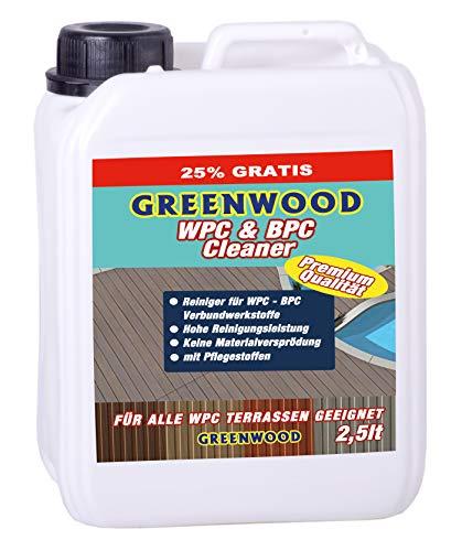 GREENWOOD - WPC Reiniger 2,5 lt. mit Pflegestoffen- Super-Konzentrat. WPC Reiniger pH Neutral