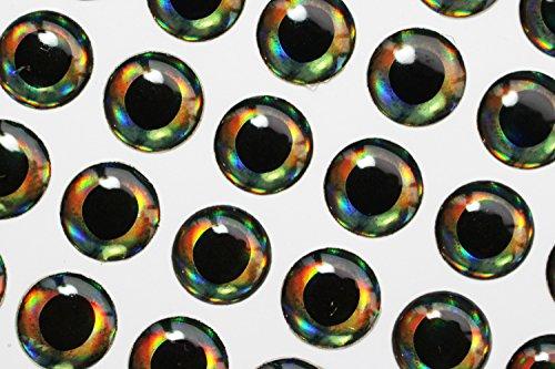 4mm/10mm 4D Fisch Augen Realistische Holografische DIY Fliegen Angeln lockt Köderfische Künstliche Augen fliegen Binden Materialien, 4mm 228pcs