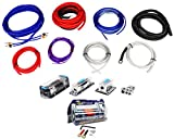 Rockville RDA0+4K 0+4 Gauge Dual Amplifier Installation Kit+4 Farad Capacitor...