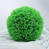 AYHMT Bola de Planta Artificial de boj, Bolas de Topiario Artificial, Bola de Planta Artificial, Decoración Verde de Bolas de Césped Artificial, Bolas de Topiario de Bola de Plástico para Colgar