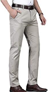 Howely Men's with Stretch Business High Waist Skinny Easy Care Dress Pant