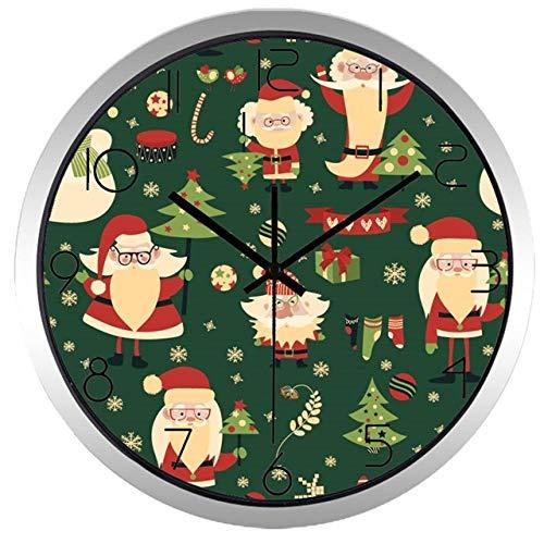 Horloge Murale Décoration De Noël Santa Claus Horloge Murale Creative Coloré Salon Horloge 12 Pouces B573S