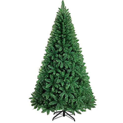 Sapin de Noël Artificiel 210 cm - CACOE Sapin de Noël 1200 Branches, Sapin Artificiel avec Support Métallique Robuste et Pliable, en PVC Ignifugé