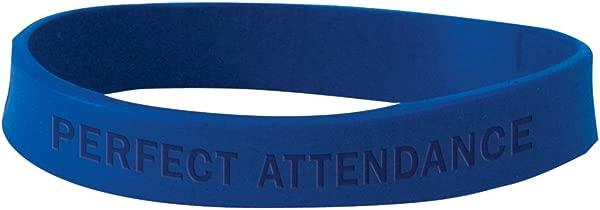 Set Of 100 Wristbands Perfect Attendance Blue