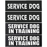 4pcs Service Dog Patch 6' x 2' - Service Dog In Training/Service Dog Patches,Clear Pattern & Velcro Dog Patches for Vest,Velcro Patches for Dog Harness,Dog Vest Patches