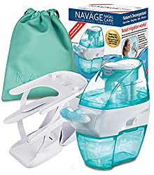 small Navage Nasal Care Deluxe Bundle: Navage Nose Cleaner, 40 SaltPod Capsules, Table Top Caddy,…