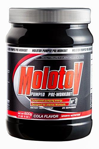 Anderson Molotov Pumped Pre-Workout Powder Orange Blast 600g con Tribulus, Arginina, Glutammina, Leucina, BCAA, Taurina, Alanina, Hmb, Citrullina, Caffeina e sali