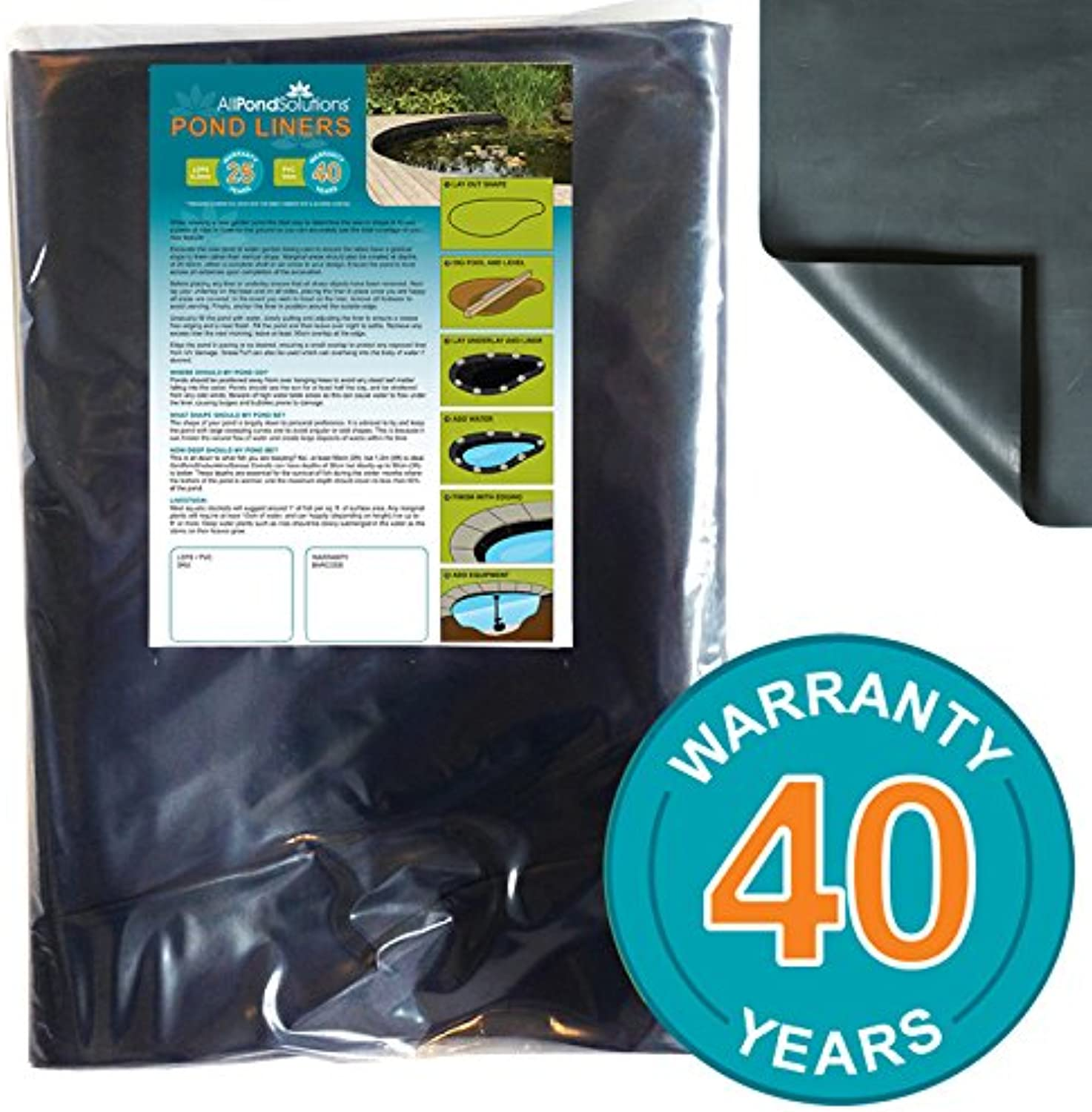 All Pond Solutions PVC Liner, 4 x 3 m