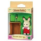 Sylvanian Families 5062 Schokoladenhasen Baby ROSI Löffel, Minipuppe, Mehrfarbig