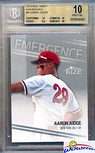 Aaron Judge 2013 Leaf Emergence New York Yankees Baseball ROOKIE Card Graded SUPER DUPER HIGH BGS 10 PRISTINE! Released 4 YEARS Before his 2017 Topps Rookie Cards! Yankees Home Run Hitting Superstar!