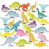 48PCS Mini Dinosaurs Toys Glow In Dark Dino Figures Dinosaur Party...