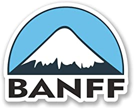 Banff Ski Snowboard Vinyl Sticker Decal Laptop Car Bumper Sticker Travel Luggage Car iPad Sign Fun 5