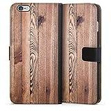 DeinDesign Étui Compatible avec Apple iPhone 6s Plus Étui Folio Étui magnétique Aspect Bois Bois...