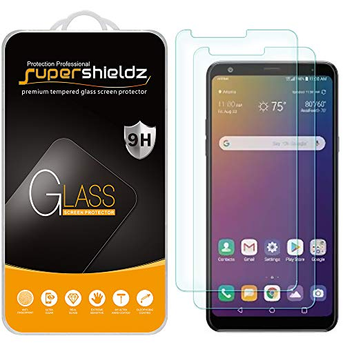 (2 Pack) Supershieldz for LG Stylo 5 and Stylo 5 Plus Tempered Glass Screen Protector, Anti Scratch, Bubble Free