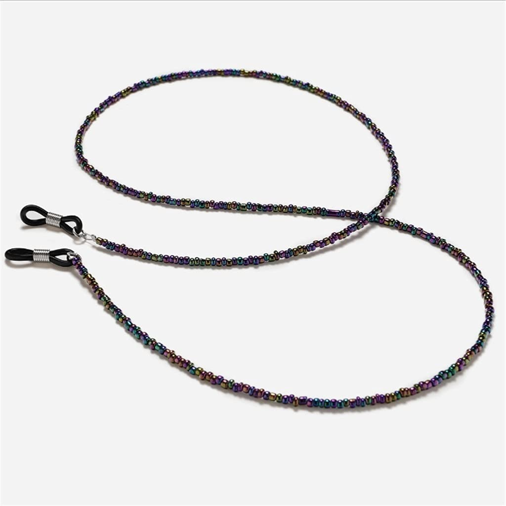 NJBYX Dream Bright Color Beads Cords Reading Glasses Chain Women Sunglasses Accessories Ethnic style Lanyard Hold Straps (Color : C, Size : Length-70CM)