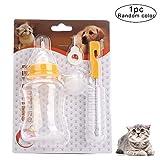Romote 1 Set Pet Nursing Bottle Kit Ersatz Nippel Cat Feeding Bottle Hunde Nurser Flasche Welpenmilch Babyflaschen Tierzubehör Für Neugeborene Hund Katze Kleintiere (150 Ml)