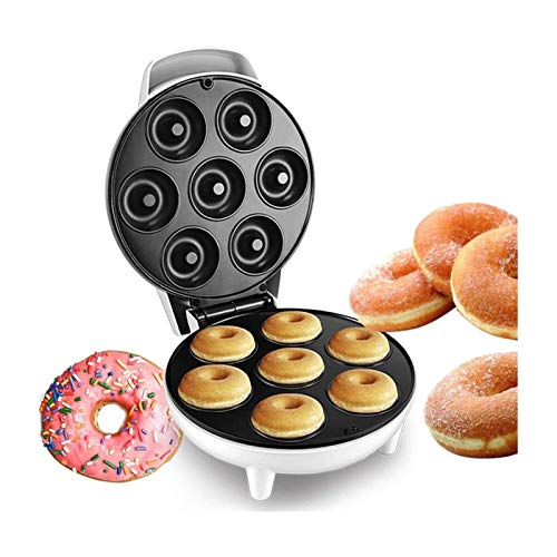 LKOPYUo Mini Mini Donut Making Machine, Desayuno Electric Donut Maker, Donut Automático, Huevo de Burbuja Horno, Máquina de Donut de Desayuno, Envoltura de Cuerda Manera Táctil Fresco para Inicio/Co