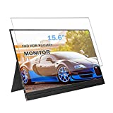 Puccy Anti Blue Light Tempered Glass Screen Protector Film, compatible with Virzen 15.6' Mobile Monitor Display (Active Area Cover Only) Protective Protectors Guard
