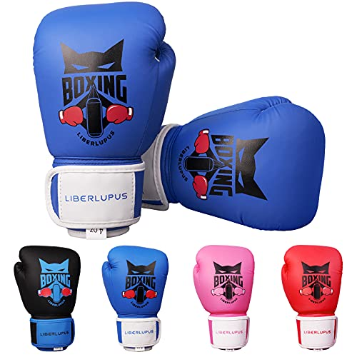 Liberlupus Kids Boxing Gloves for Boys and Girls, Boxing Gloves for Kids 3-15, Youth Boxing Training...